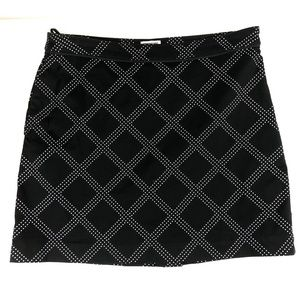 Izod Perform Golf Skort Size 6 Black Skirt Stretch
